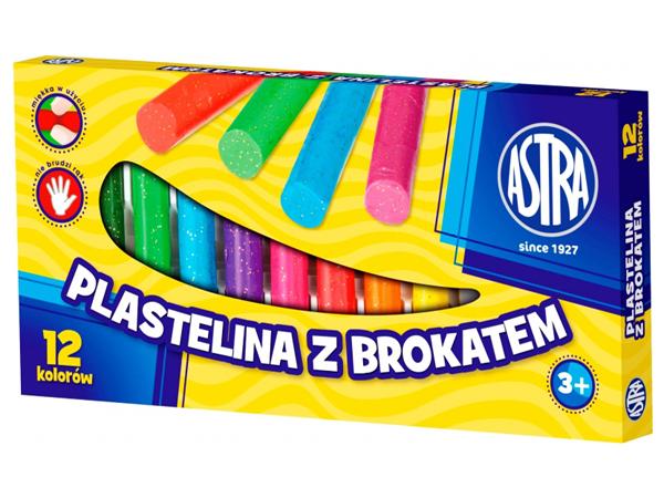 Brokátová plastelína Astra - 12 barev