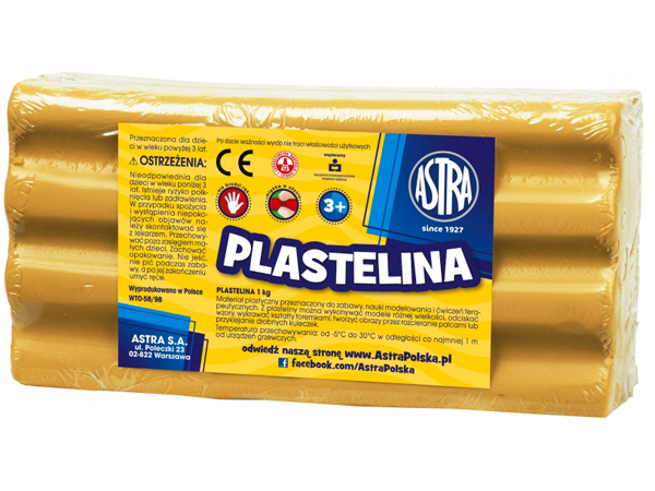 Plastelína ASTRA světle hnědá 1 kg