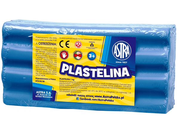 Plastelína ASTRA modrá 1 kg