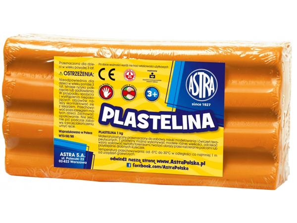 Plastelína ASTRA oranžová 1 kg