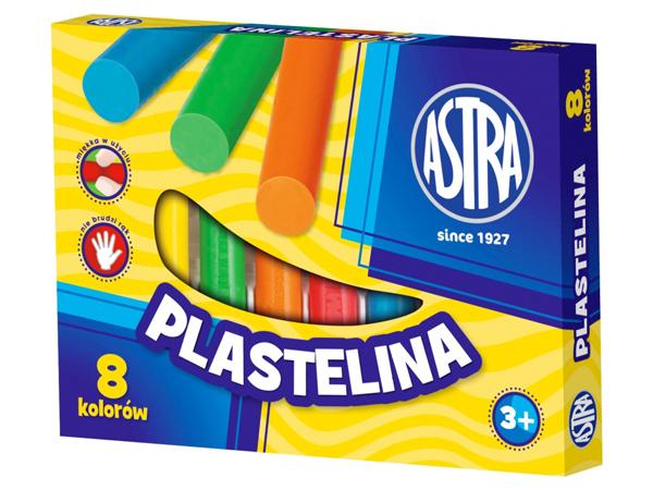 Plastelína ASTRA kulatá 8 barev
