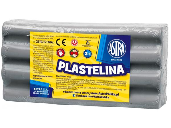 Plastelína ASTRA šedá 1 kg