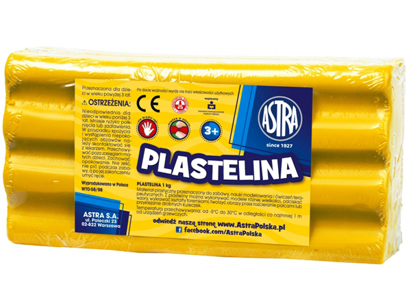 Plastelína ASTRA žlutá 1 kg