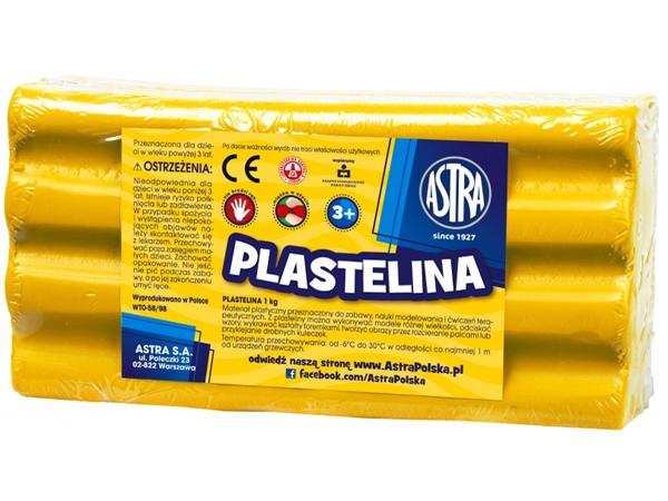 Plastelína ASTRA žlutá 1 kg