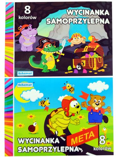 Samolepicí papíry A4 - 8 kusů barev