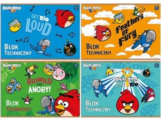 Blok techniczny A4 10k. INTERDRUK Angry Birds Rio
