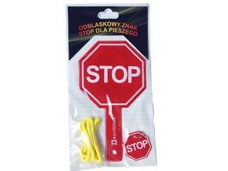 Obustronny odblaskowy znak STOP dla pieszego EBLASK