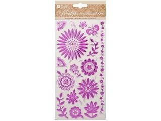 Naklejka ornamentowa DPCRAFT Fioletowe kwiaty