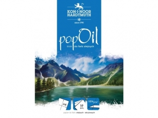 Blok do farb olejnych A4 10k. KOH-I-NOOR Pop oil 250g