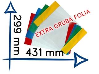 OK-2 Ok³adka J. Angielski EXTRA gruba folia  299x431 mm A4