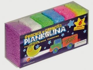 Piankolina ART&PLAY 6 kolorów - ¶wiec±ca w ciemno¶ci