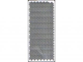 Naklejka ozdobna GWIAZDKI MA£E 6-ramienne srebrne