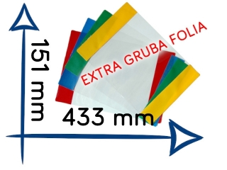 OK-12 Ok³adki na zeszyt do nut EXTRA gruba folia 151x433 mm