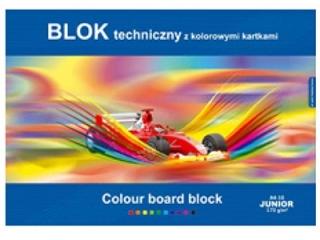 Blok techniczny kolorowy A3 10k. KRESKA Junior 170g