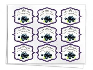 Etykiety na przetwory seria A jagoda