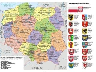 Podk³adka na biurko A3 Laminowana Cienka Mapa Polski
