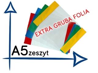OK-10 Ok³adki na zeszyt A5 EXTRA gruba folia