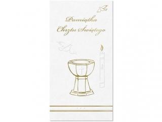 Kartki karnet DL Prestige Chrzest KCH6