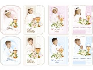 Kartki karnet B6 brokat Dzieci Komunia ¶w. MERIGRAF
