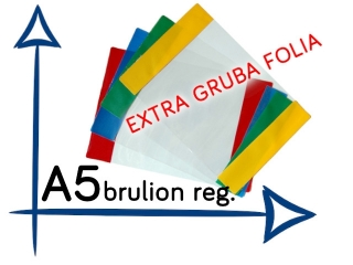 OR-12 Ok³adka A5 Brulion EXTRA gruba folia 215 szer.regulowa