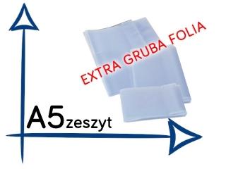 OK-10 Ok³adki na zeszyt A5 EXTRA gruba folia przezroczysta