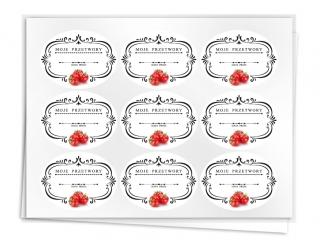 Etykiety na przetwory seria B pomidor