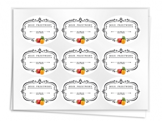 Etykiety na przetwory seria B papryka