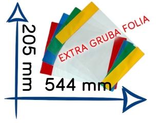 OK-26 Ok³adka Muzyka podr. 1-3. EXTRA gruba folia 205x544 mm