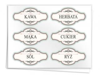 Etykiety na pojemniki z produktami sypkimi 1