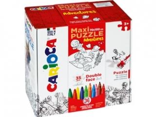 Zestaw puzzli do rysowania Carioca  ADVENTURES  36 kolorów