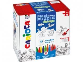Zestaw puzzli do rysowania Carioca  CITY x JUNGLE  36 koloró