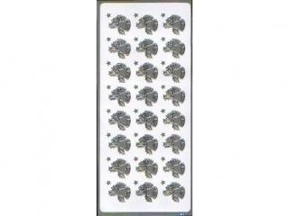 Naklejka ozdobna DZWONKI srebrne 1607s