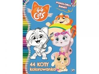 Kolorowanka MSZ 44 Koty- Pokoloruj ¦wiat