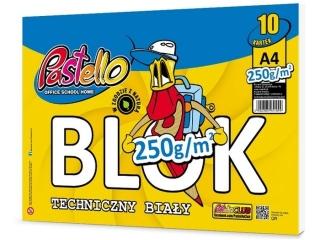Blok techniczny A4 10k. PASTELLO 250g
