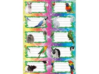 Naklejki na zeszyty POLSYR Du¿e - bajkowe zwierz±tka 25ark.