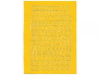 Litery samoprzylepne ART-DRUK  10mm ¿ó³te Helvetica 10 arkus