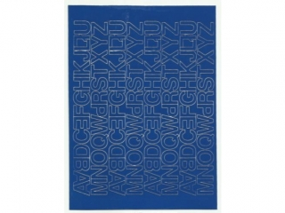 Litery samoprzylepne ART-DRUK  15mm niebieskie Helvetica 10