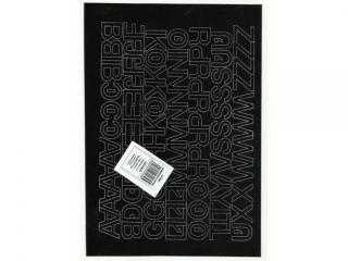 Litery samoprzylepne ART-DRUK  20mm czarne Helvetica 10 arku