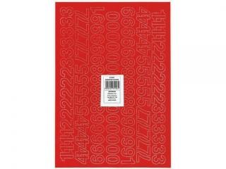 Litery samoprzylepne ART-DRUK  20mm czerwone Helvetica 10 ar