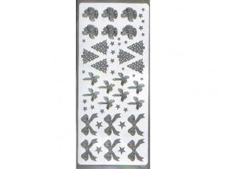 Naklejka ozdobna RÓ¯NE 1653 srebrny
