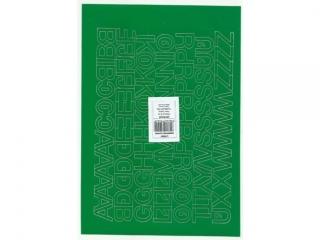 Litery samoprzylepne ART-DRUK  20mm zielone Helvetica 10 ark