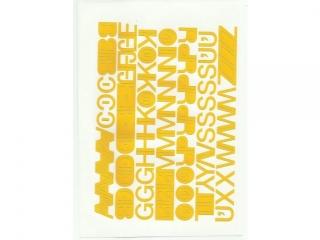 Litery samoprzylepne ART-DRUK  20mm ¿ó³te Helvetica 10 arkus