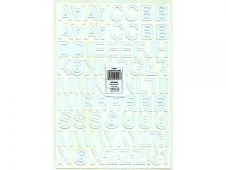 Litery samoprzylepne ART-DRUK  25mm bia³e Helvetica 10 arkus