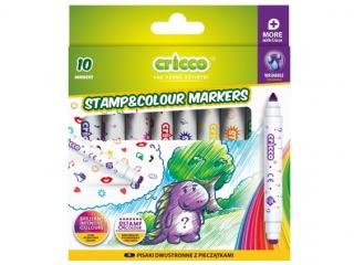 Pisaki dwustronne z piecz±tkami CRICCO 10 kolorów