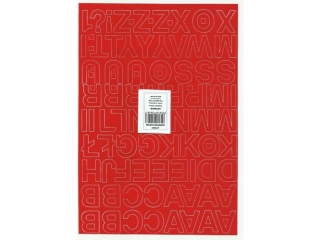 Litery samoprzylepne ART-DRUK  25mm czerwone Helvetica 10 ar