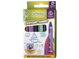 Kredki ¶wiecowe CRICCO Jumbo - 12 kolorów
