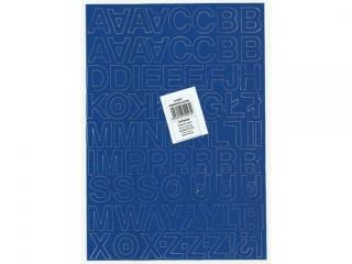 Litery samoprzylepne ART-DRUK  25mm niebieskie Helvetica 10