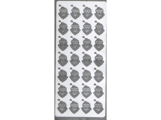 Naklejka ozdobna GWIAZDORKI  1660srebrny