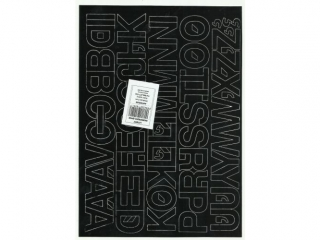 Litery samoprzylepne ART-DRUK  30mm czarne Helvetica 10