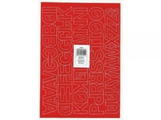 Litery samoprzylepne ART-DRUK  30mm czerwone Helvetica 10 ar